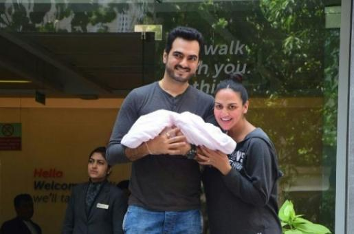 Guess The Name of Esha Deol and Bharat Takhtani's New-Born Daughter?