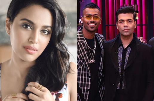 KWK Controversy: Swara Bhaskar Supports Hardik Pandya And Kl Rahul. Here's Why!