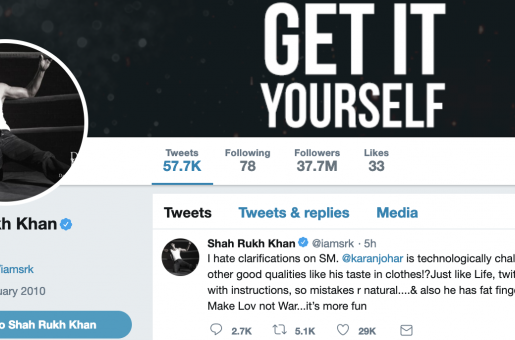 Shah Rukh Khan's Response to Karan Johar Liking Offensive Tweet Is EPIC