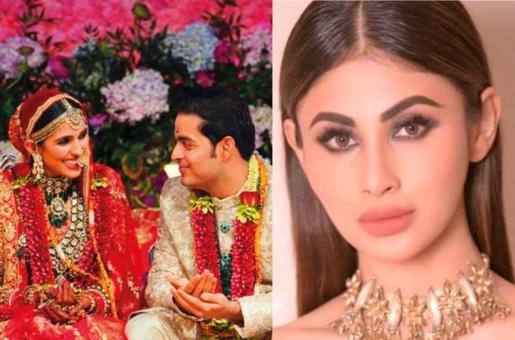Another Story from Akash Ambani and Shloka Mehta's Wedding Surfaces on the Internet; Mouni Roy Turns Troublesome