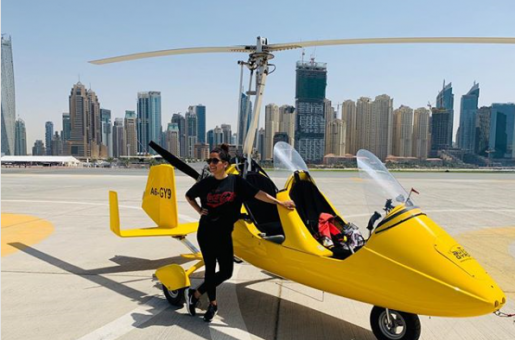 Bollywood Actress Sanya Malhotra is in Dubai; Makes Her First Stop at Skydive Dubai