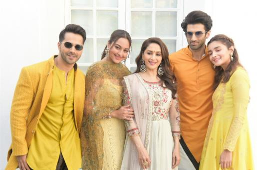 The 'Kalank' Stars Dazzle In Yellow For Delhi Promotions