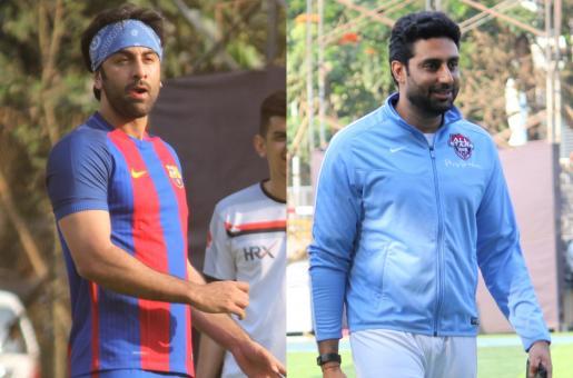 Ranbir Kapoor, Abhishek Bachchan And More Play A Game Of Football