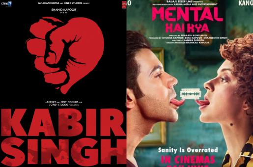 Shahid Kapoor's 'Kabir Singh' or Kangana Ranaut's 'Mental Hai Kya' – Which Film Will You Watch?