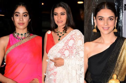 Janhvi Kapoor, Kajol and Aditi Rao Hydari Stun in Saris