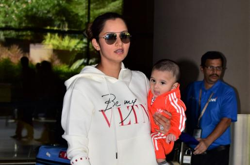 Sania Mirza's son Izhaan is All Smiles at the Airport