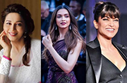 Madhuri Dixit, Deepika Padukone and Sushmita Sen on World Laughter Day