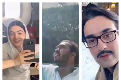 Saboor Aly Saheefa Jabbar Khattak Make Fun of Their Assistant Director Cleaning Windows, Social Media Reacts