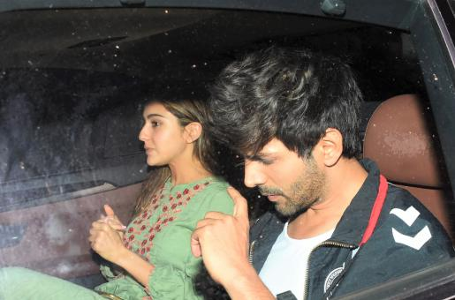 Sara Ali Khan and Kartik Aaryan Leave in Same Car from Love Aaj Kal 2 Filming