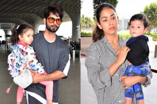 Shahid Kapoor and Mira Rajput Head to Singapore With Kids Misha and Zain