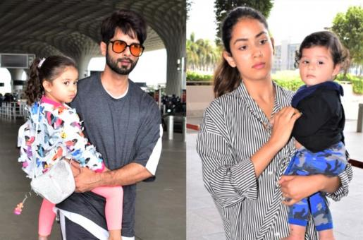 Shahid Kapoor and Mira Rajput Head to Singapore With Kids Misha and Zain