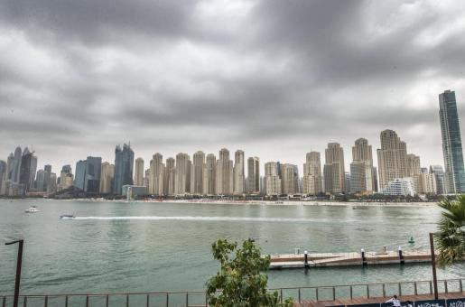 UAE Weather: UAE Expecting Rain and Thunderstorms; Flood Leaves a Camel Swimming in Wadi