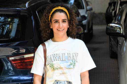 Sanya Malhotra Looks Adorable as She Smiles for Paparazzi