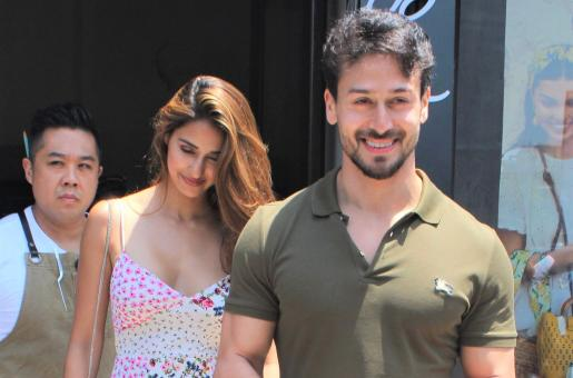 Tiger Shroff and Disha Patani Spotted At Their Favourite Eatery Together