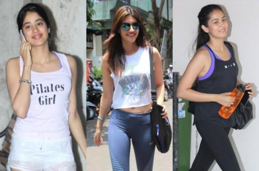 Janhvi Kapoor, Kriti Sanon and Mira Rajput Hit the Gym!
