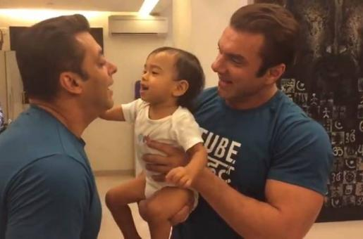 Salman Khan Spends Family Time at Nephew's Birthday in The Cutest Way! See Images and Videos!
