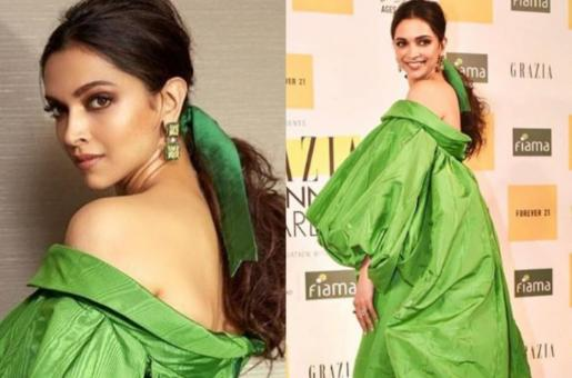 Deepika Padukone's Green Dress Sparks Commentary