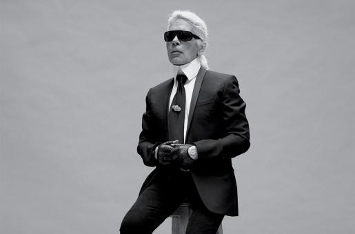 Karl Lagerfeld Tribute on Paris Catwalk