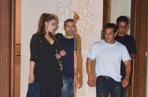 Salman Khan and Lulia Vantur at Arbaaz Khan's Party