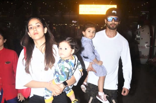 Shahid Kapoor, Mira Rajput are Twinning in Their Latest Airport Look