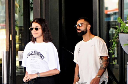 Anushka Sharma and Virat Kohli Are Twinning in Monochrome
