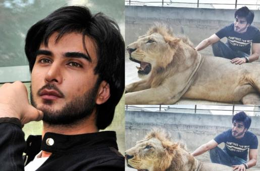 Imran Abbas Responds to Claims of Animal Abuse After Posting a Pic With a Lion