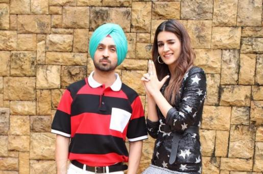 Kriti Sanon and Diljit Dosanjh Promote their Upcoming Romantic-Comedy Arjun Patiala
