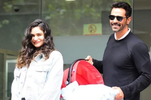 Arjun Rampal and Gabriella Demetriades Spotted Leaving Hospital With Their Newborn Baby Boy