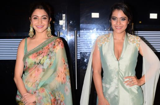 Anushka Sharma and Kajol Twin in Pastel Green in Totally Different Styles!