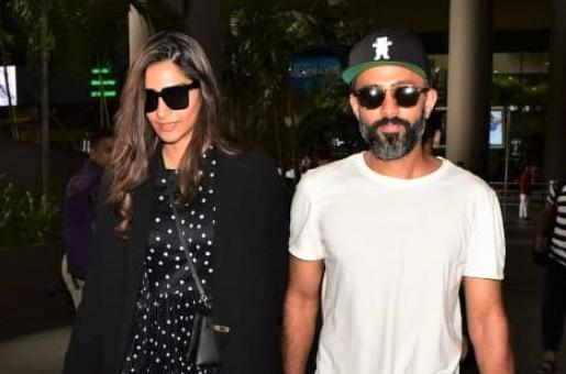 Sonam Kapoor and Anand Ahuja Arrive in Style From Their London Trip!