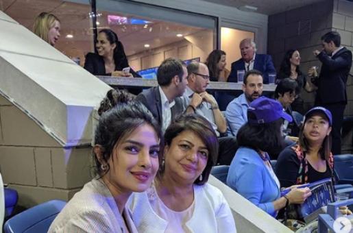 Priyanka Chopra Enjoys US Open with Mother Madhu Chopra