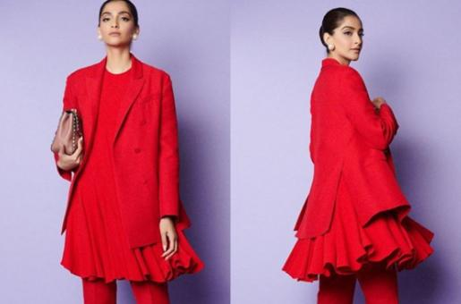 Sonam Kapoor Cuts a Stylish Figure in a Bold Valentino Suit Set