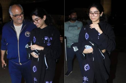 Khushi Kapoor Leaves India for Higher Studies Making Friends and Family Emotional