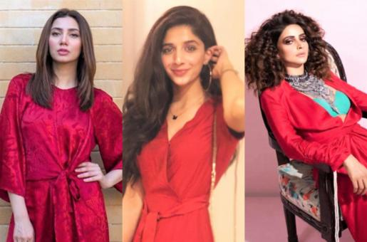 Pakistani Actresses Radiating Happiness and Love in Red