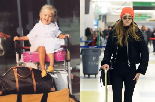 Gigi Hadid Shares Her Childhood Airport Look on Lnstagram