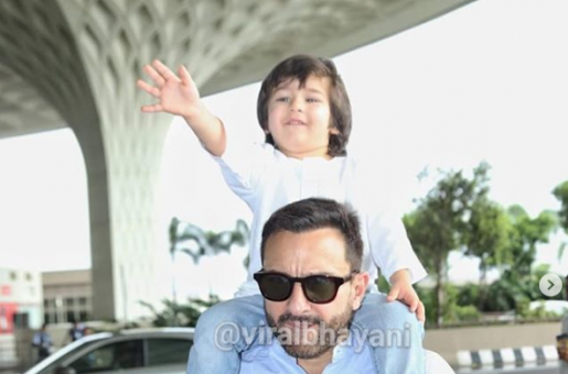 Taimur Ali Khan Can Not Hold His Excitement on Seeing the Shutterbugs At the Airport