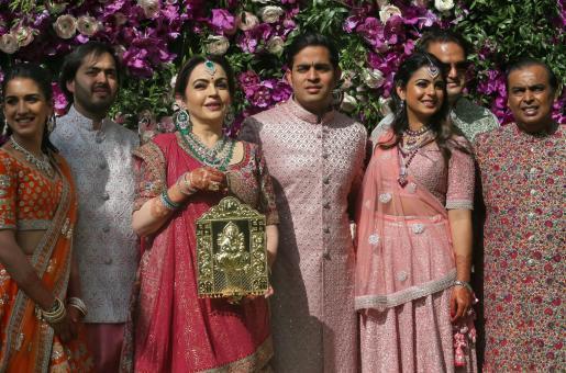 Akash Ambani, Shloka Mehta, and Isha Ambani Attend Friend's Wedding