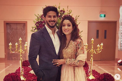 Dulquer Salmaan Steps Out With His Beautiful 'Missus 'Amaal Sufiya