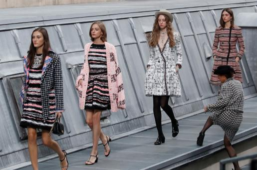 An Intruder Casually Storms Chanel Fashion Show. Watch Gigi Hadid Confronting Her