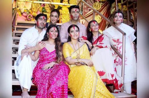Karan Johar, Rani Mukerji and Kajol Get Together For Sindur Khela During Durga Puja