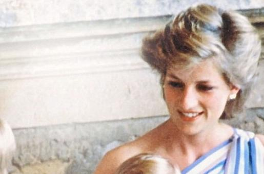 Princess Diana Holds Prince Harry Sucking His Thumb in An Old Picture