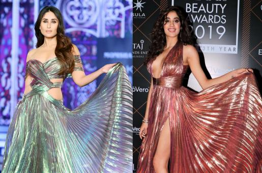 Fashion face-off: Kareena Kapoor, Janhvi Kapoor Rock The Pleated Dress