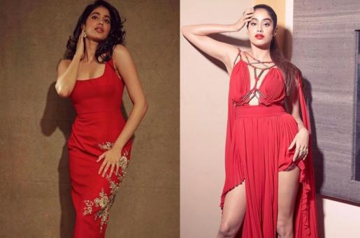 Two Times Janhvi Kapoor Looked Bold In Red