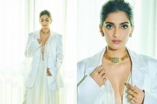 Sonam Kapoor Heads an All-White Ensemble for Latest Look
