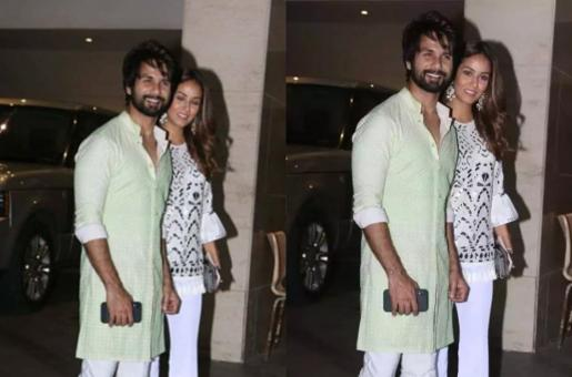 Shahid and Mira Rajput Look Their Festive Best for Diwali Celebrations