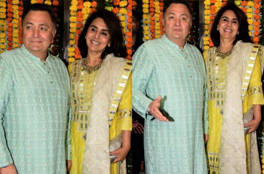 Rishi and Neetu Kapoor Look Like A Star Couple For Diwali Celebrations