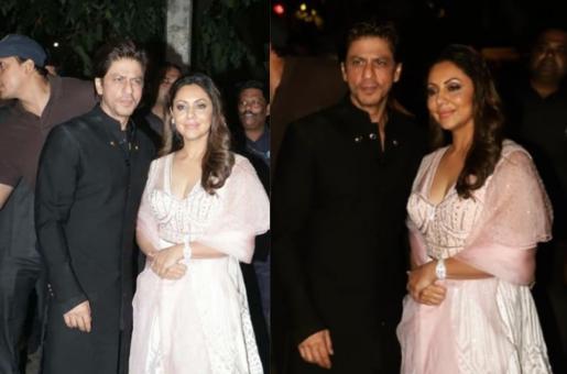 Shah Rukh Khan, Gauri Khan Leave Heads Turning at Diwali Bash