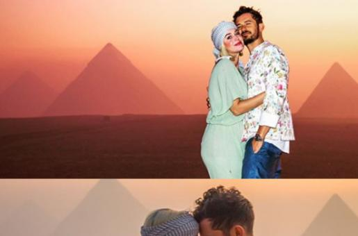 Katy Perry Peaks into the Future as She Celebrates 35th Birthday in Egypt with Fiancé Orlando Bloom