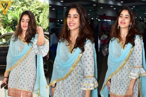 Janhvi Kapoor Knows the Art of Carrying Casual Eastern Wear Even at the Airport