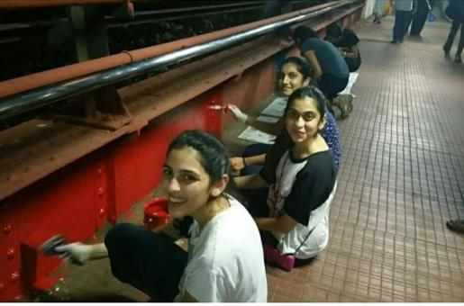 The Ambani Bahu Shloka Mehta Paints the Walls of Mumbai Train Station